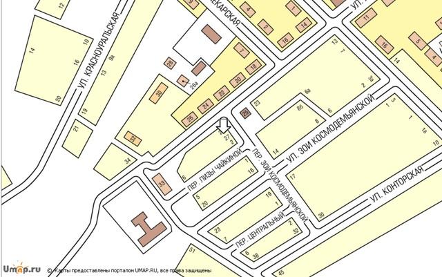 Схема проезда (Карта) - Школа