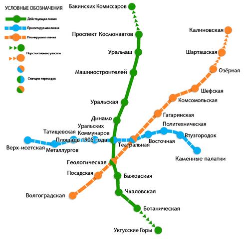 Схема метрополитена (карта