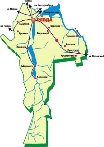 Схема городского округа Ревда