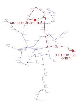 Трамвайный маршрут № 8 «40 лет