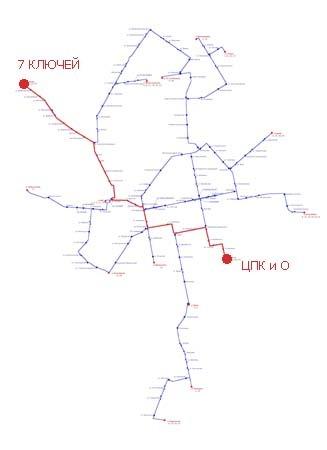 Трамвайный маршрут № 10 «ЦПК и